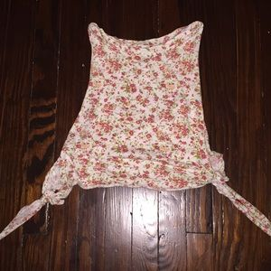 open sided floral shirt